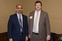 Dr. Kahook with Mark Lenker from Shire Pharmaceuticals