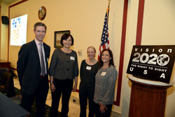 Left to right: The Briefing participants included Kevin Frick, Ph.D. (Johns Hopkins Carey Business School), Jane Gwiazda, Ph.D. (New England College of Optometry), Cheri Wiggs, Ph.D. (National Eye Institute), and VISION 2020 USA Chair and moderator Sandra Block, O.D., M.Ed, MPH