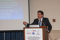 Gregory Hageman, Ph.D. (Moran Eye Center, University of Utah), speaks