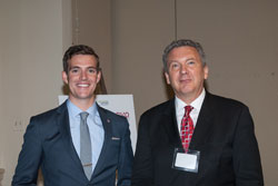Left to right: Michael Maroni (Alliance for Aging Research, a briefing co-sponsor) with AEVR Executive Director James Jorkasky