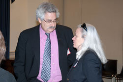 FFB Chief Research Officer Stephen Rose, Ph.D., with longtime FFB advocate Moira Shea