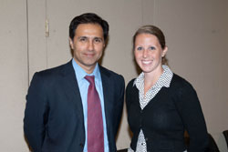 Dr. Humayun with Jenny Wing from the office of Senator Tom Harkin (D-IA)