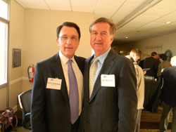 Left to right: Sanford Greenberg, Ph.D. and Peter McDonnell, M.D., both from Wilmer Eye Institute/Johns Hopkins University School of Medicine. Dr. McDonnell is a NAEVR Board member.