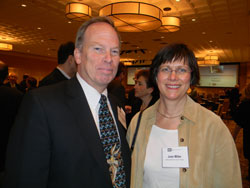 Left to right: Wiley Chambers, M.D. (Deputy Director of the Division of Transplant and Ophthalmology Products within the Center for Drug Evaluation and Research at the FDA) and Joan Miller, M.D. (Massachusetts Eye and Ear Infirmary/Harvard Medical School