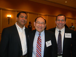 Left to right: Rohit Varma, M.D. (Chicago Eye and Ear Infirmary/University of Illinois), Paul Lee, M.D. (Kellogg Eye Center/University of Michigan Medical School), and Marco Zarbin, M.D., Ph.D. (New Jersey Medical School)