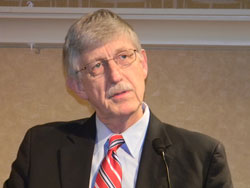 "NIH Director Francis Collins, M.D., Ph.D. describes NEI's long tradition of leading in biomedical research to urge attendees to have a ""bold vision for vision"""