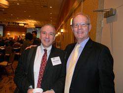 Left to right: James Chodosh, M.D. (Massachusetts Eye and Ear Infirmary/Harvard Medical School) and David Parke II, M.D. (American Academy of Ophthalmology)