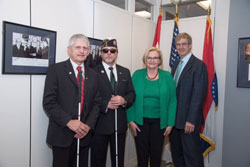 From left: Dr. Zampieri, First Sergeant (Ret.) Wallace, Senator Claire McCaskill (D-MO), and Dr. Clark