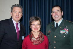 Left to right: AEVR Executive Director James Jorkasky with Irene Kochevar, Ph.D. (Massachusetts General Hospital and Colonel Donald Gagliano, M.D., M.H.A., Director of the DOD/VA Vision Center of Excellence (VCE)