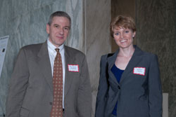 National Advisory Eye Council Member James Chodosh, M.D., M.P.H. with ARVO's Bobbie Austin, Ph.D.