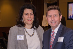 Dawn Mancuso, Executive Director of the Association of Schools and Colleges of Optometry (ASCO), and Mark Risher from Allergan
