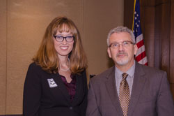 Sarah Martin, from the Sjogren's Syndrome Foundation and AEVR Executive Director James Jorkasky