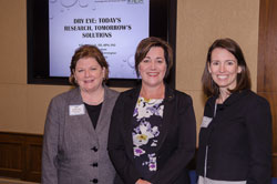 From left: Beth Kneib, O.D., American Optometric Association (AOA), Dr. Nichols, and Alison Manson, also from AOA