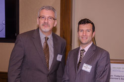 AEVR Executive Director James Jorkasky with Ted Buckley, PhD. from Shire