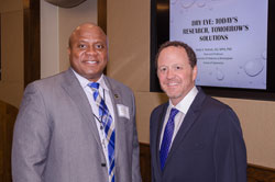 Dewayne Blackmon, office of Cong. Tim Walz (D-MN) with AEVR Director of Education David Epstein. Cong. Walz, the highest ranking enlisted soldier to ever serve in Congress, has been a supporter of vision research at the NIH and the Department of Defense (DOD).
