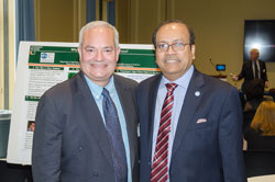 Left to right: Dr. Perez with Reza Haque, MD, PhD (Shire)