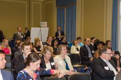 The Briefing/Screening/Poster Session drew a capacity crowd in the Rayburn House Office Building's Gold Room