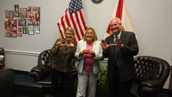 Cong. Ileana Ros-Lehtinen (R-FL), center, with Dr. Galor and Dr. Perez