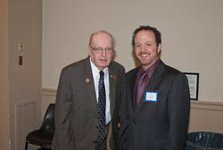 Left to right: Cong. Howard Coble (R-NC) with David Epstein, AEVR's Director, Government Relations  and Education