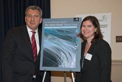 Left to right: AEVR Executive Director James Jorkasky with AAR's Lindsay Duvall Clarke, who is the primary coordinator for The Silver Book's content