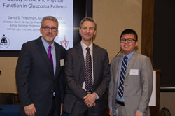 From left: AEVR Executive Director James Jorkasky, Dr. Friedman, and Anthony Nguyen from the office of Cong. Scott Peters (D-CA), who has submitted a Programmatic Request for Fiscal Year 2017 NEI funding of $770 million, the vision community's request.