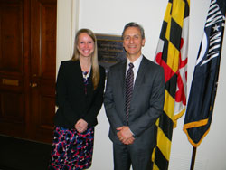 Jessica Mulhearn from the office of Cong. John Sarbanes (D-MD) with Dr. Friedman