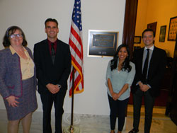 From left: Ms. Prudden and Dr. Karamichos with Jennifer Bowman Gray and Jake Hinch, both from the office of Senator James Inhofe (R-OK)
