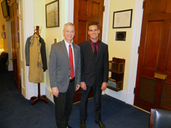 Dr. Karamichos with Cong. Steve Russell (R-OK)