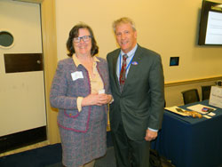 NKCF Executive Director Mary Prudden with Charles McCoy, from the office of Cong. Keith Rothfus (R-PA)