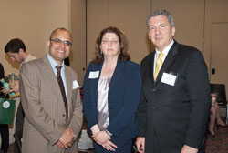 Left to right: Narinder Sharma (AMD Alliance International), Rebecca Hyder (American Academy of Ophthalmology) and AEVR Executive Director James Jorkasky
