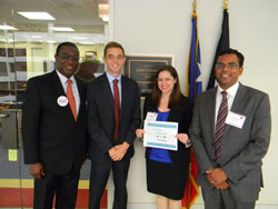 George Leonardo, office of Senator John Cornyn (R-TX), second left, with (from left) Dr. Oyajobi, Ms. Hall, and Dr. Chavala