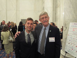 NAEVR representative Adiv Johnson, Ph.D. with National Institutes of Health (NIH) Director Francis Collins, M.D., Ph.D. at a pre-Advocacy Day reception