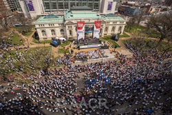 The Rally was held in Mount Vernon Square in front of the Washington D.C. Convention Center in the heart of the city. Several surrounding streets were closed to accommodate the crowd.