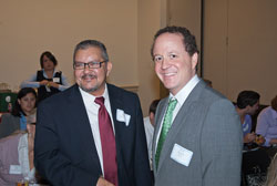 Diego Sanchez of the office of Cong. Barney Frank (D-MA) with AEVR's David Epstein