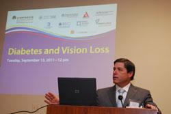 Featured speaker Neil Bressler, M.D. (Wilmer Eye Institute) at the  September 13 Congressional Briefing