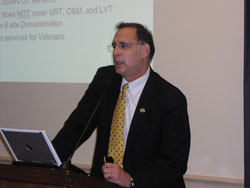 Senator John Boozman, O.D. also welcomed attendees and noted that in his optometry practice he spent time at Lighthouse International learning about low vision rehabilitation