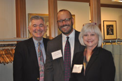 From left: Arthur Makar (Fight for Sight), Jeff Todd (Prevent Blindness and a member of the AEVR Working Group) and Sandra Blackwood  (International Retinal Research Foundation)