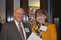 Dr. Sieving with Torrey DeKeyser (EyeSight Foundation of Alabama)