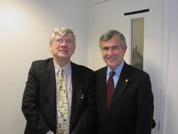 Dr. Kimberling with Senator Mike Johanns (R-NE), who was just elected in November 2008