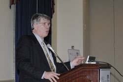 William Kimberling, Ph.D., speaks to attendees