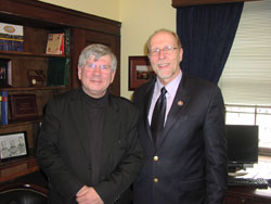 Dr. Kimberling with Cong. Dave Loebsack (D-IA), a long-time medical research supporter