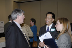 Dr. Kimberling with Baldwin Wong from the National Institute on Deafness and Other Communications Disorders (NIDCD) and Andree Reuss from the NIH Director's office, detailed to NIDCD