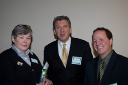 From Left: Marcia Knutson, from the office of Rep. James Moran, a Labor HHS & Education Appropriations Subcommittee Member, with James Jorkaksky and NAEVR Advocacy Manager David Epstein