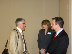 Left to right: Michael Duenas, O.D. (American Optometric Association), Torrey Smitherman (Eye Sight Foundation of Alabama) and Dr. Girkin. The EyeSight Foundation, a private funding source and AEVR member, supports numerous basic and clinical research projects within the state, as well as prevention and educational activities.