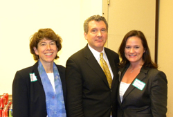 Several medical research advocacy colleagues attended the briefing, including (left) Martha Nolan (Society for Women's Health Research) and (right) Renee Cruea (Coalition for Imaging and Bioengineering Research), with AEVR's James Jorkasky