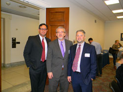 From left: Greg Chavez (The Vision Council), AEVR Executive Director James Jorkasky, and Rodney Peele, J.D. (American Optometric Association)