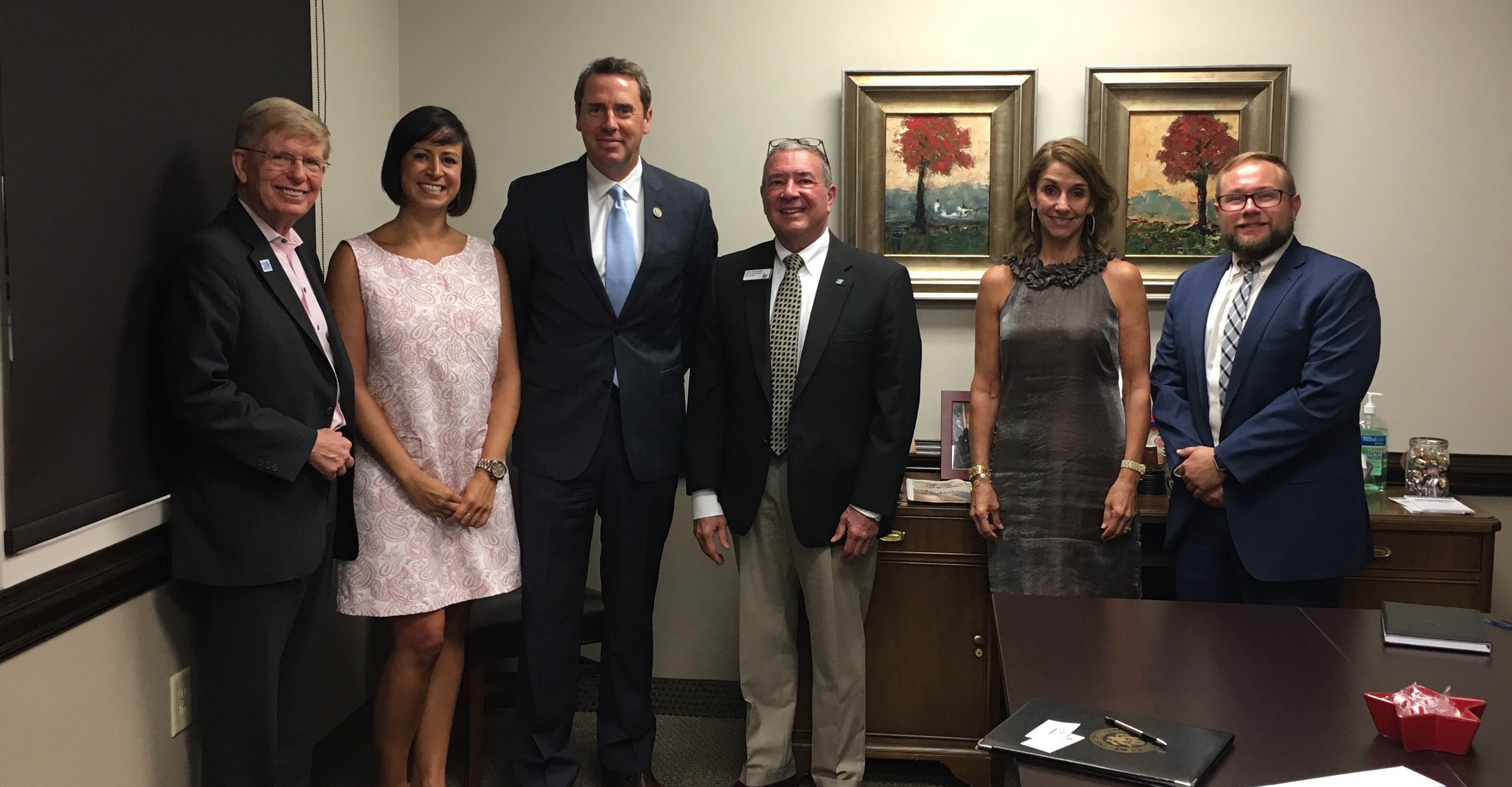 The We Work For Health campaign meets regularly with members of Congress to discuss important healthcare issues. Above, WWFH partners, NC State Grange and American Cancer Society- Cancer Action Network, meet with Congressman Mark Walker (R) in Greensboro.