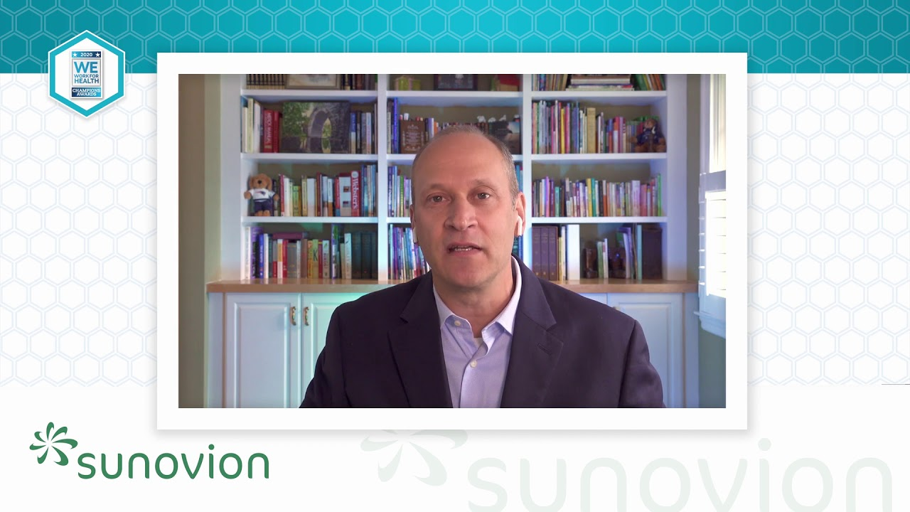 2020 We Work For Health Champion - Phil Bonasia - Sunovion