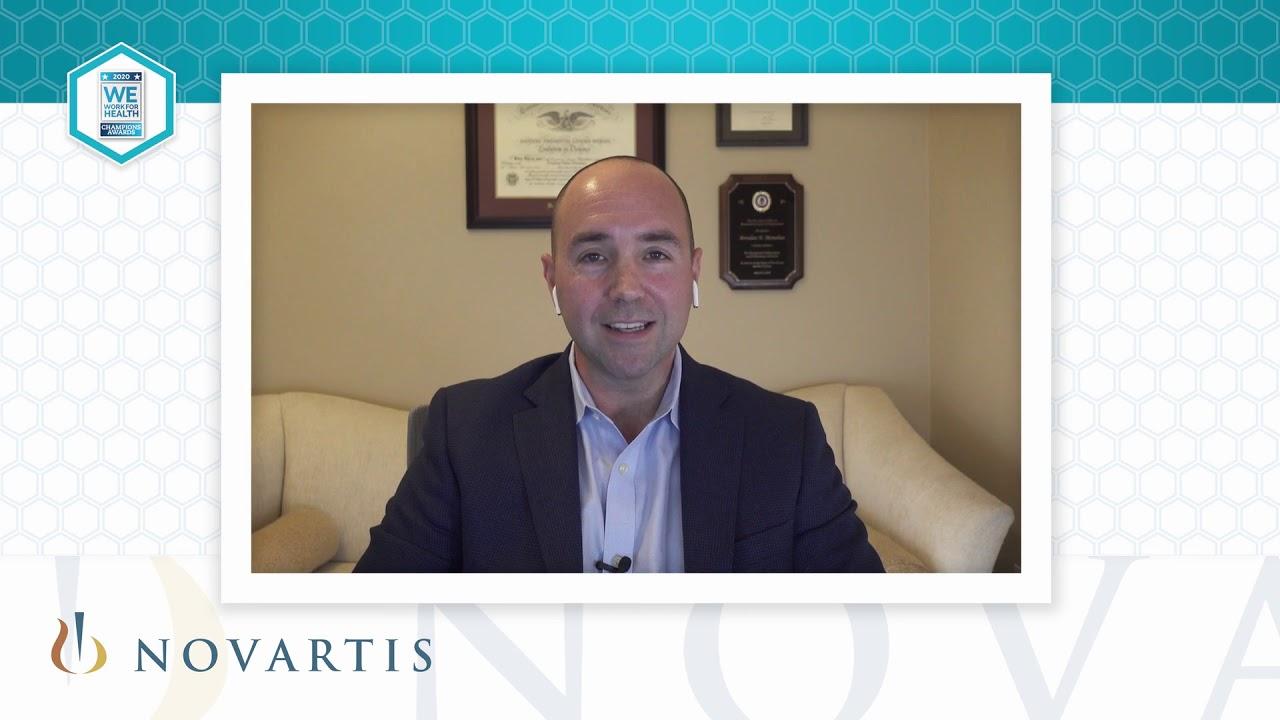 2020 We Work For Health Champion - Brendan Monahan - Novartis