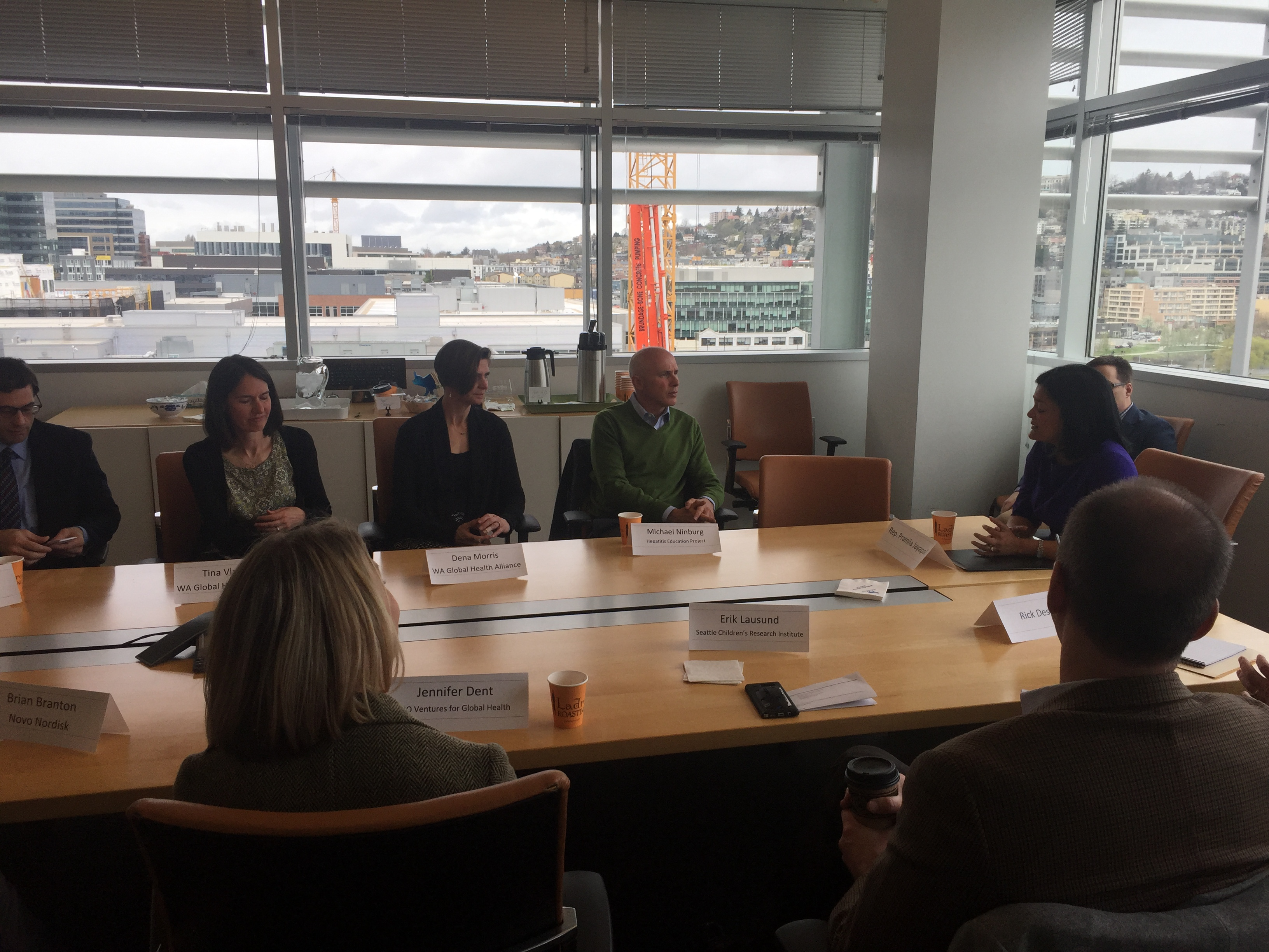 WWFH-WA hosts Rep. Jayapal for a facility tour and roundtable discussion at Novo Nordisk.